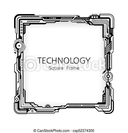 フレーム, 広場, 技術, design. - csp52374300