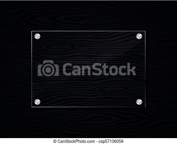 フレーム, 木, 黒, アクリル, 背景 - csp57136059