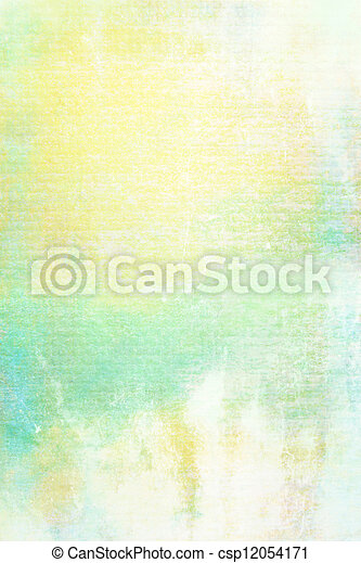 ブラウン, 古い, ぼろぼろ, canvas:, 抽象的, textured, 黄色, パターン, 背景, 白, 緑, 背景 - csp12054171