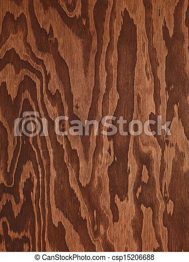 ブラウン, 抽象的, 木, 合板, 手ざわり - csp15206688