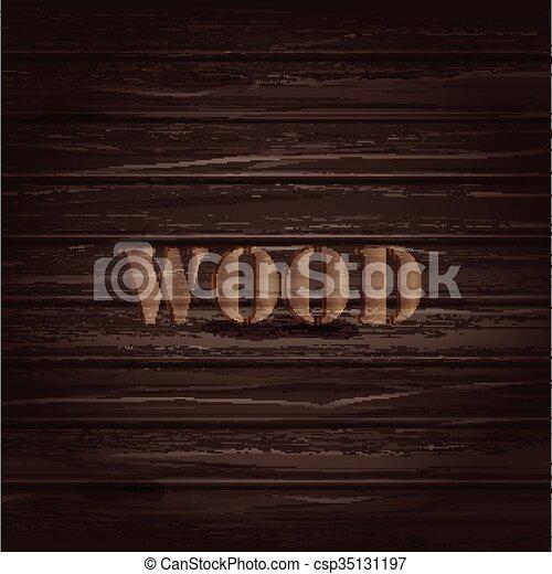 ブラウン, 木, text., ベクトル, 背景, texture. - csp35131197