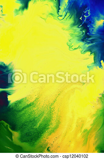 ブラウン, 青, 抽象的, 黄色, パターン, 背景, textured, 緑, 背景 - csp12040102