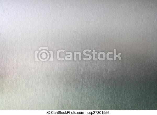 ブラシをかけられた金属, 手ざわり, 背景 - csp27301956