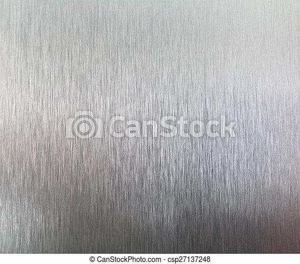 ブラシをかけられた金属, 手ざわり, 背景 - csp27137248