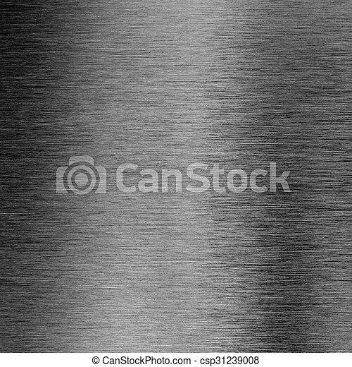 ブラシをかけられた金属, 手ざわり, 背景, マクロ - csp31239008