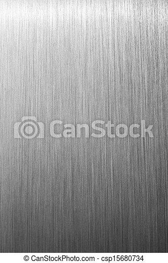 ブラシをかけられた金属, 背景, 手ざわり - csp15680734