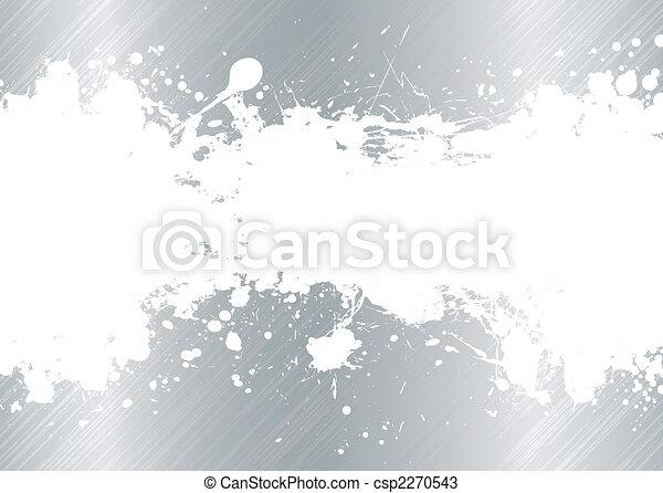 ブラシをかけられた金属, splat, インク - csp2270543