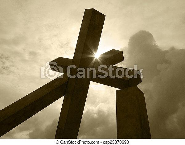 ブラジル, カトリック教, サルバドール, 交差点, da, bahia., sculpture. - csp23370690