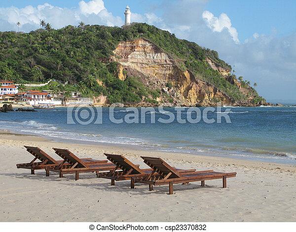 ブラジル, 浜。, sao, サルバドール, de, morro, da, paulo, bahia. - csp23370832