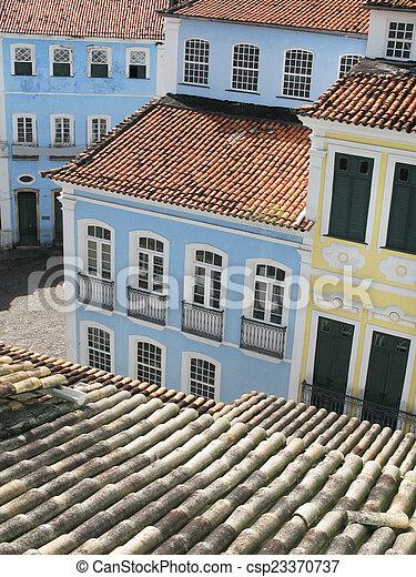 ブラジル, pelourinho., サルバドール, da, bahia., 光景 - csp23370737