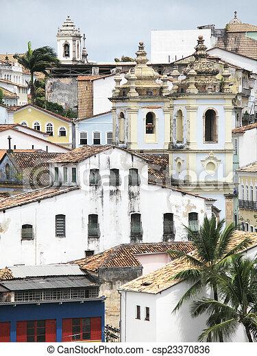 ブラジル, pelourinho., サルバドール, da, bahia., 光景 - csp23370836
