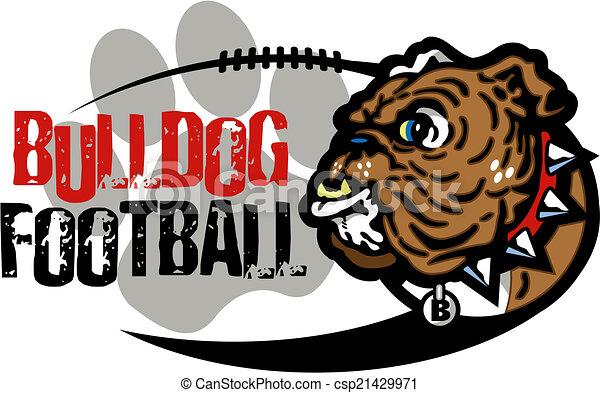 ブルドッグ, フットボール, デザイン - csp21429971