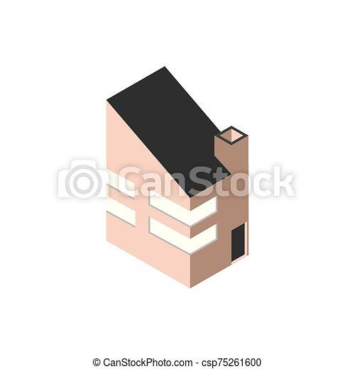 ブロック, 現代, スタイル, 等大 - csp75261600