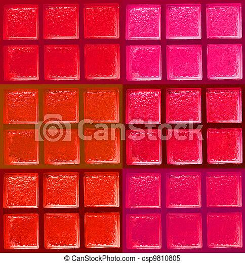 ブロック, 色, 装飾用である, ガラス - csp9810805