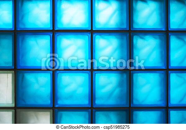 ブロック, 色, 霜, 手ざわり, ガラス, 半透明, 壁 - csp51985275