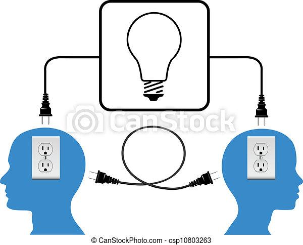 プラグ, 参加しなさい, 人々, ライト, 接続, ループ - csp10803263