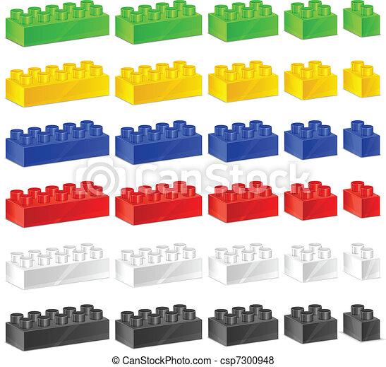 プラスチック, 子供, コンストラクター - csp7300948