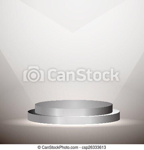 プラットホーム, グラフィック, 照らされた - csp26333613