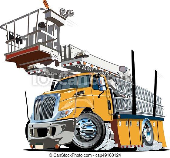 プラットホーム, リフト, トラック, 漫画 - csp49160124