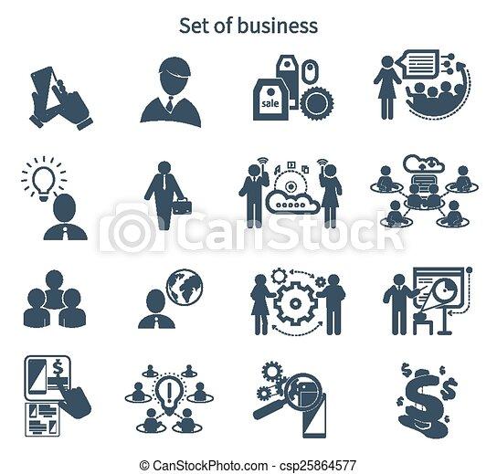 プレゼンテーション, 概念, チームワーク, ビジネス アイコン - csp25864577
