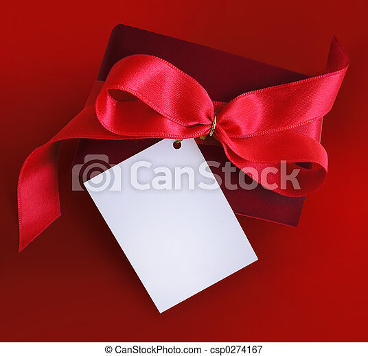 プレゼント, あばら骨, 赤 - csp0274167