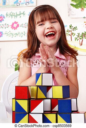 プレーセット, room., 建設, 子供, ブロック - csp8503569