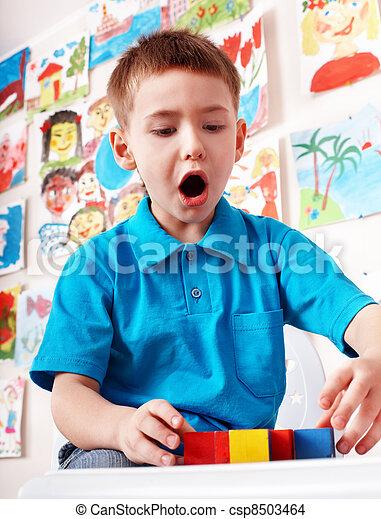 プレーセット, room., 木, 子供, 建設, ブロック - csp8503464