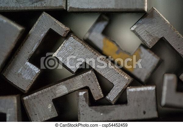 プレート, 金属, 積み重ねられた, 終わり - csp54452459