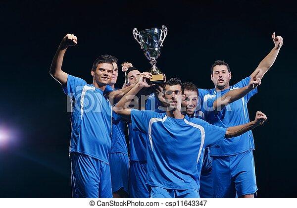 プレーヤー, サッカー, 勝利, 祝う - csp11643347