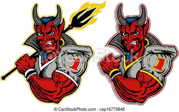 プレーヤー, 悪魔, フットボール - csp16773848