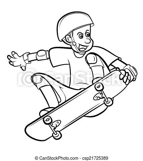 プレーヤー, 板, スケート - csp21725389