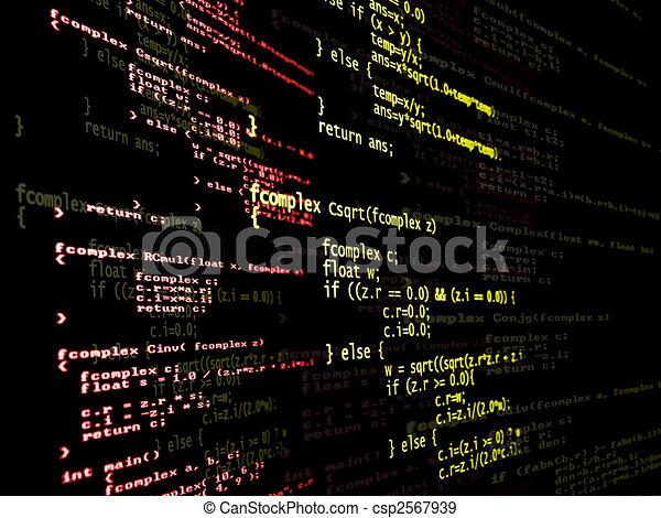 プログラム, コード, デジタル - csp2567939