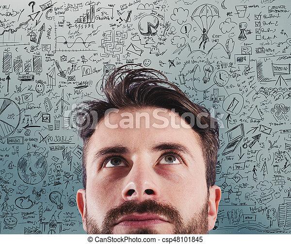 プロジェクト, 新しい 考え, ビジネス, 創造的 - csp48101845
