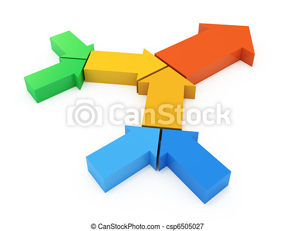 プロセス, 矢, 鎖, カラフルである - csp6505027
