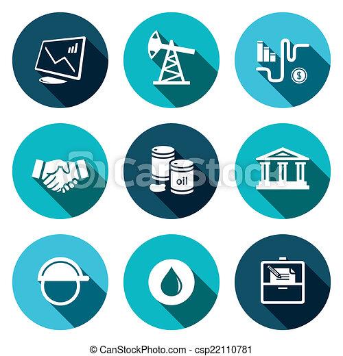 プロダクト, 石油, セール, コレクション, アイコン - csp22110781