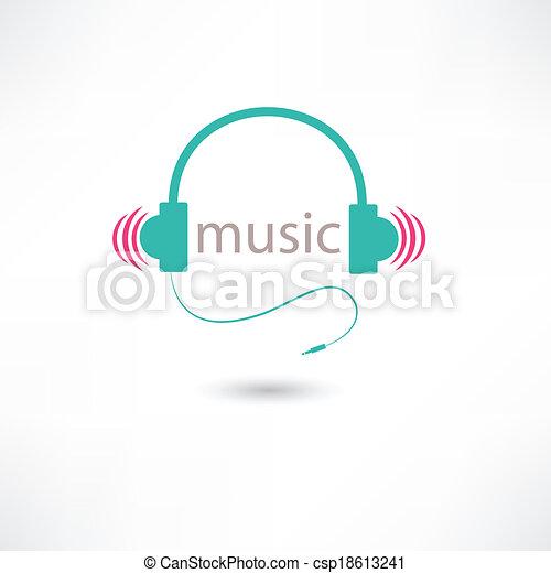 ヘッドホン, 音楽, 有色人種 - csp18613241