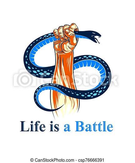 ヘビ, 原型, あなたの, 生活, tattoo., 概念, 悪, ∥あるいは∥, 側, 制御, 影, 窮地, 内部, 型, 対立, 暗い, に対して, ベクトル, 戦い, ロゴ, 手 - csp76666391