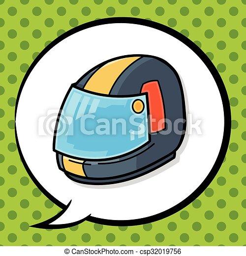 ヘルメット, いたずら書き - csp32019756