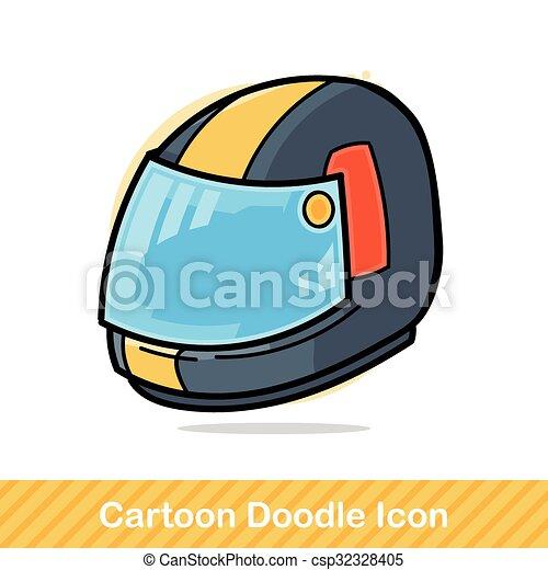 ヘルメット, いたずら書き - csp32328405