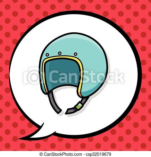 ヘルメット, いたずら書き - csp32019679