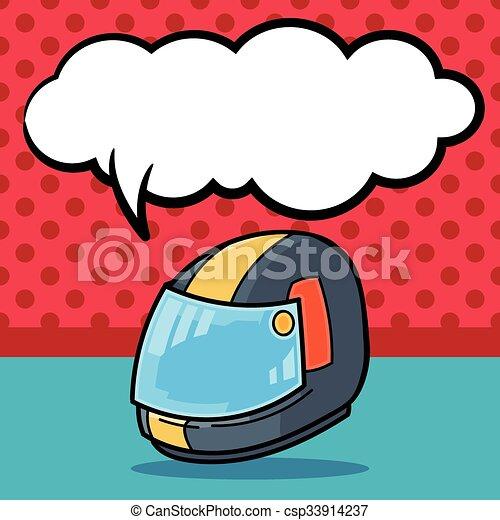 ヘルメット, いたずら書き - csp33914237