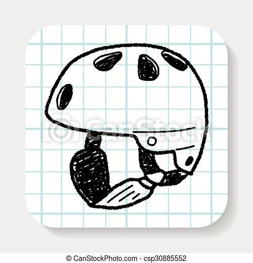 ヘルメット, スケート, いたずら書き - csp30885552