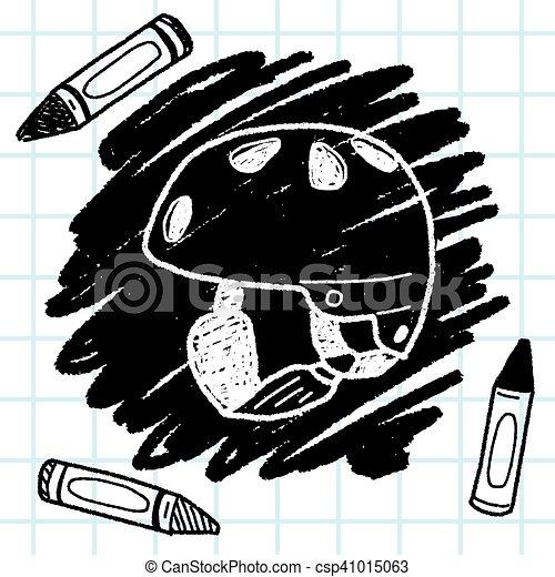 ヘルメット, スケート, いたずら書き - csp41015063