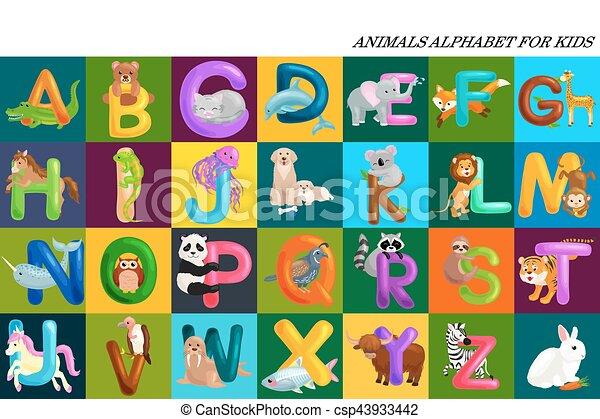 動物英語教材の無料イラスト素材イラストイメージ