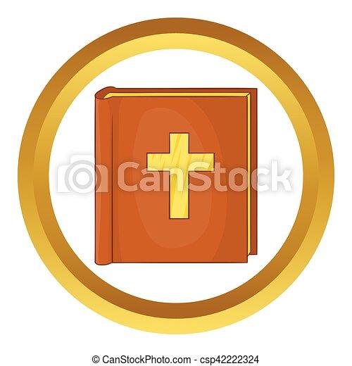 ベクトル, アイコン, 聖書 - csp42222324