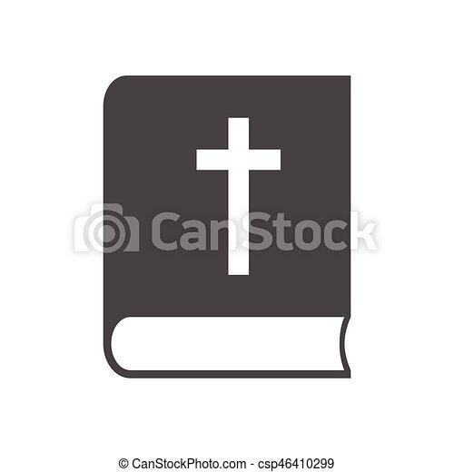 ベクトル, アイコン, 聖書 - csp46410299