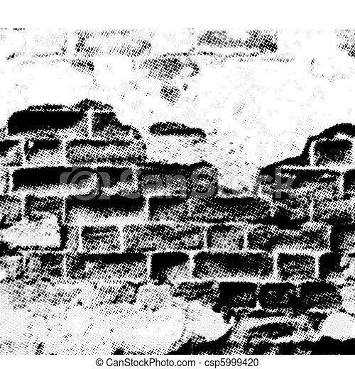 ベクトル, グランジ, 壁 - csp5999420