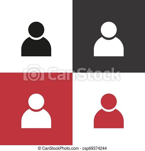 ベクトル, グループ, アイコン, 人々 - csp69374244