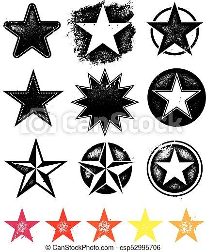 ベクトル, コレクション, 星, グラフィックス - csp52995706
