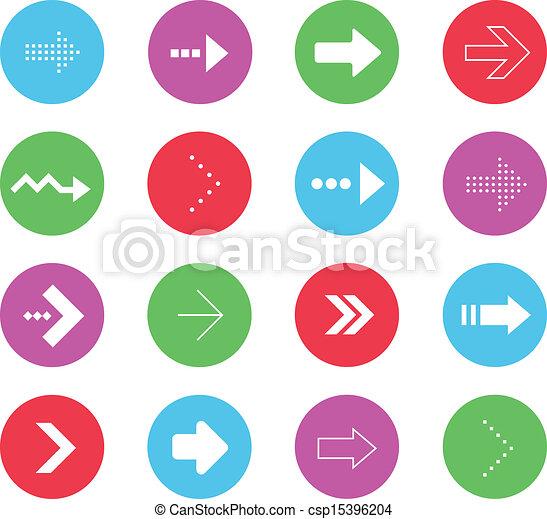 ベクトル, セット, アイコン, 矢, 2, すばらしい - csp15396204